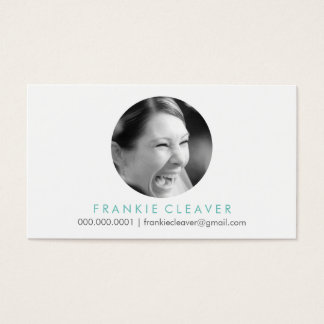 MODERN PHOTO SPOT headshot simple bold circle Business Card