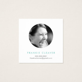 MODERN PHOTO SPOT headshot simple bold circle Square Business Card