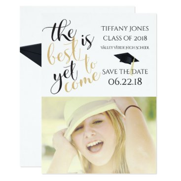 Aztec Themed Modern Photo Template  Graduation Save the Date