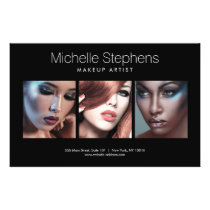 Modern Photo Trio for Makeup Artists Black Flyer