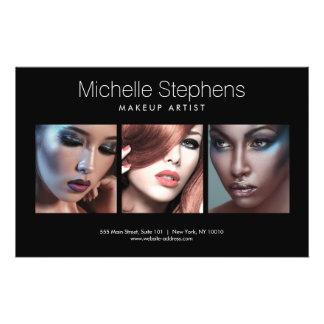 Modern Photo Trio for Makeup Artists Black Flyer