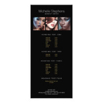 Modern Photo Trio for Makeup Artists Black Rack Card