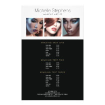 Modern Photo Trio for Makeup Artists Price List Flyer