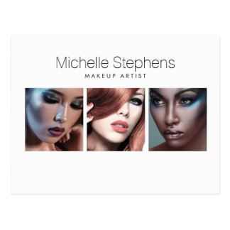 Modern Photo Trio for Makeup Artists, Stylists Postcard