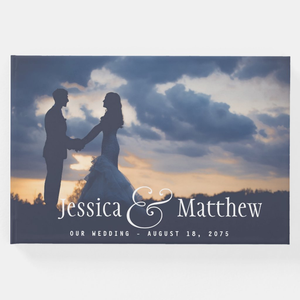 Modern Photo Wedding Guest Book
