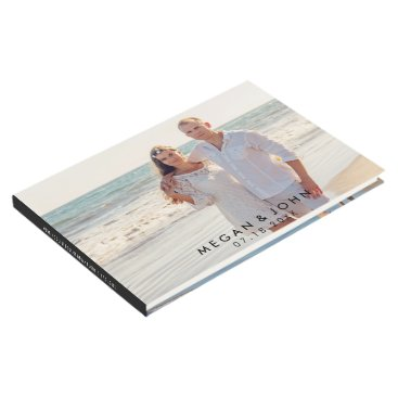 Beach Themed Modern Photo Wedding Guest Book