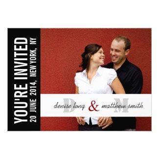 Modern Photo Wedding Invitation Card | Monograms