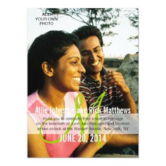 "Modern Photo Wedding Invitations Monogram 6.5"" X 8.75"" Invitation Card"