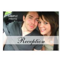 Modern Photo Wedding Reception Cards