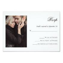 Modern Photo   Wedding RSVP Card