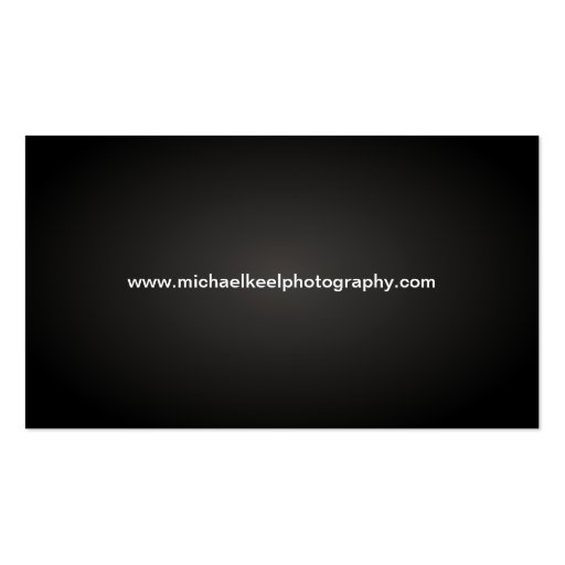 Modern Photographer Business Cards (back side)