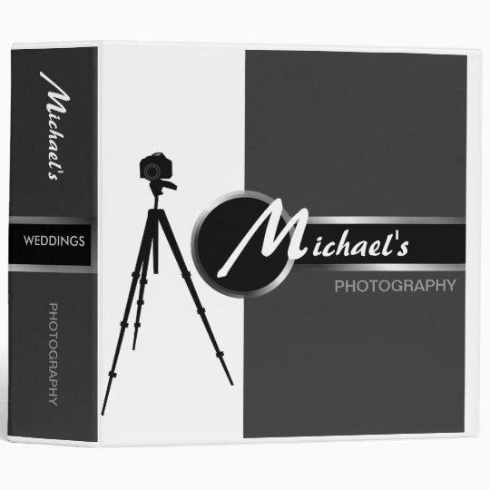 Modern Photographer Gray 2 Portfolio 3 Ring Binder