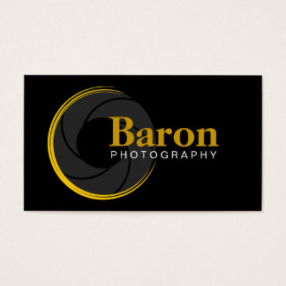 Modern Photographer Yellow Business Cards
