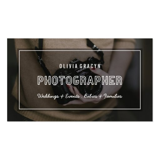 Modern graphy Business Card Custom Color Back