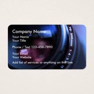 Modern Photography Businesscards Business Card