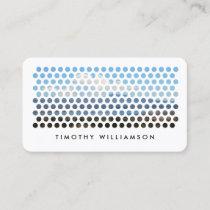 Modern Photography Circles Pattern Business Card