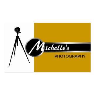 Modern Photography Gold Business Card