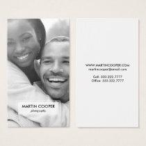 Modern Photography Photo Overlay Business Card