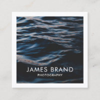 Modern Photography Photographer Square Business Card