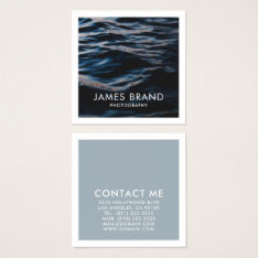 Modern Photography Photographer Square Business Card at Zazzle