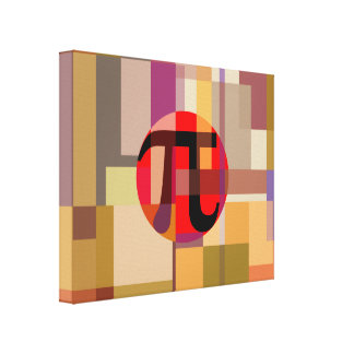 Modern Pi Composition, Geometric Canvas Print