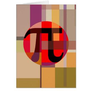Modern Pi Composition, Geometric Card