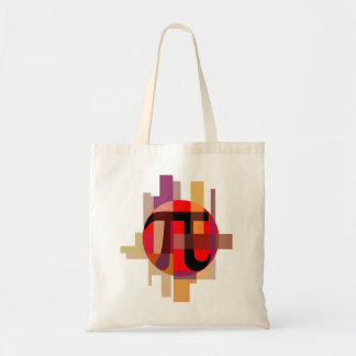 Modern Pi Composition, Geometric Tote Bag