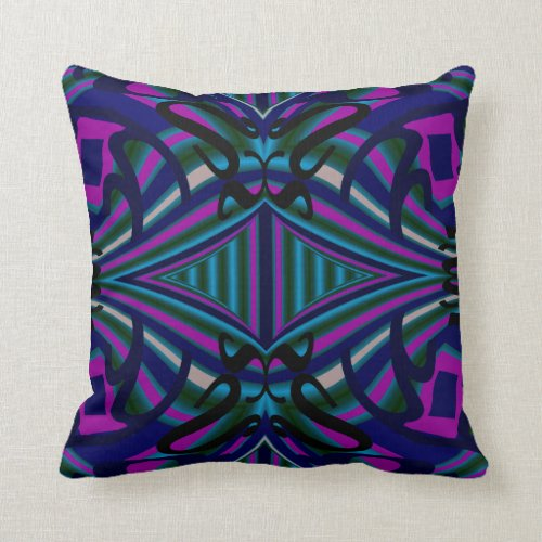 Modern Pillow-Home-Navy/Black/White/Pink/Blue/Aqua Throw Pillow