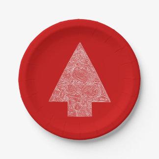 Modern Pine Tree Paper Plate