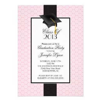 Modern Pink 2013 Graduation Party Invitation
