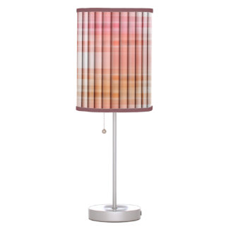 Modern Pink Abstract Plaid Design Lamp