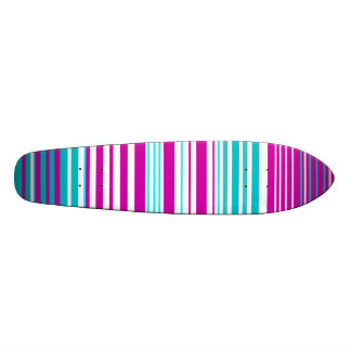 Modern pink and baby blue stripes skate boards