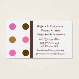 Modern Pink and Brown Business Card