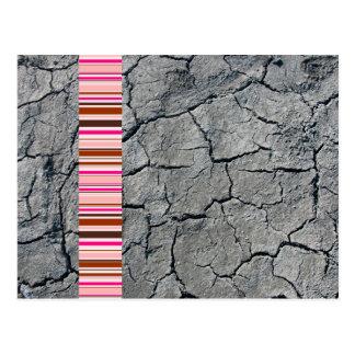 Modern Pink and Grey Postcard