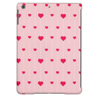 Modern Pink And Red Hearts Pattern Case For iPad Air