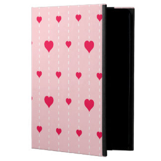 Modern Pink And Red Hearts Pattern iPad Air Covers