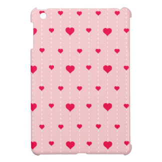 Modern Pink And Red Hearts Pattern iPad Mini Cover