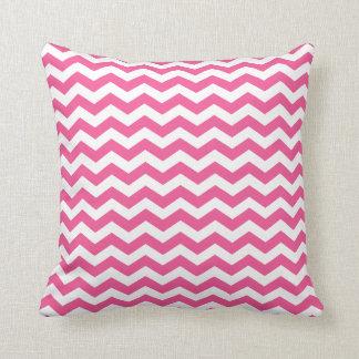 Modern Pink and White Chevron Throw Pillow