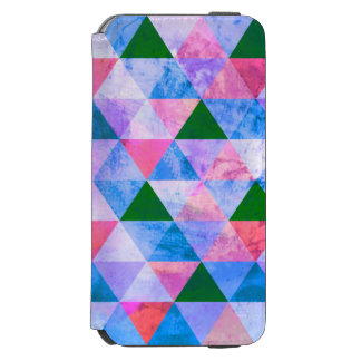 Modern Pink, Blue & Green Geometric Design iPhone 6/6s Wallet Case