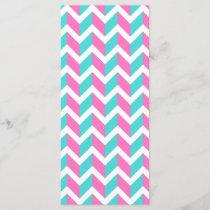 Modern Pink Blue White Chic Chevron Pattern