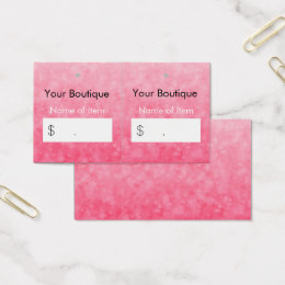 Hang tag business cards templates zazzle modern pink boutique hang tags soft and chic colourmoves