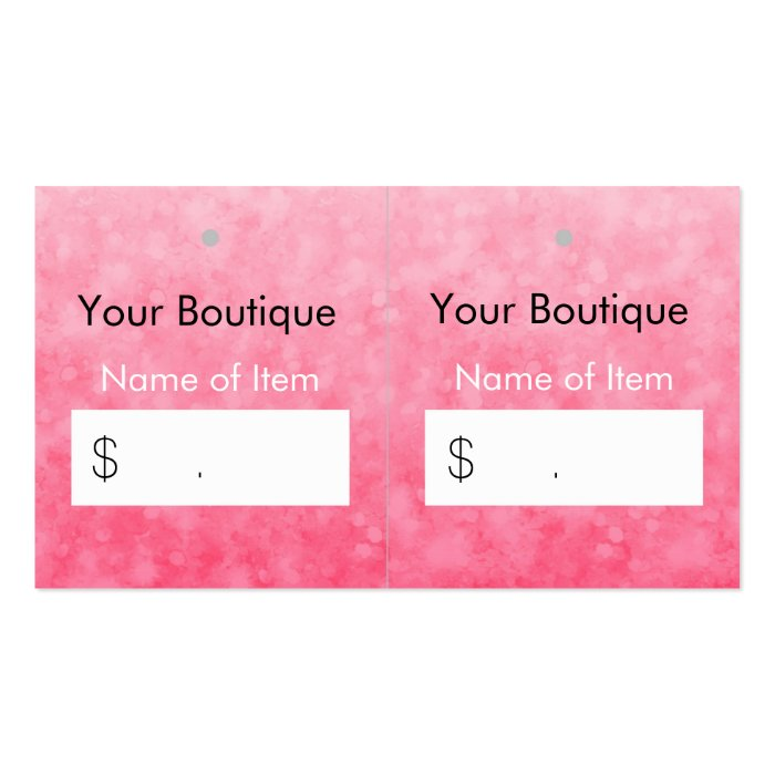 Modern pink boutique hang tags soft and chic business card for Chic modern boutique