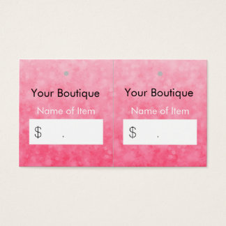 Modern Pink Boutique Hang Tags Soft and Chic Business Card