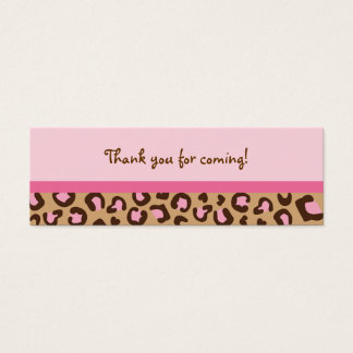 Modern Pink Cheetah Print Goodie Bag Tags