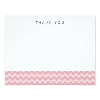 Modern Pink Chevron Thank You Note Cards