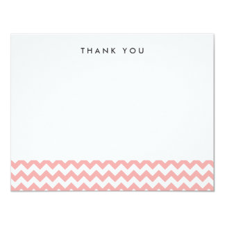 "Modern Pink Chevron Thank You Note Cards 4.25"" X 5.5"" Invitation Card"