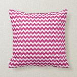 Modern Pink Chevron Throw Pillow