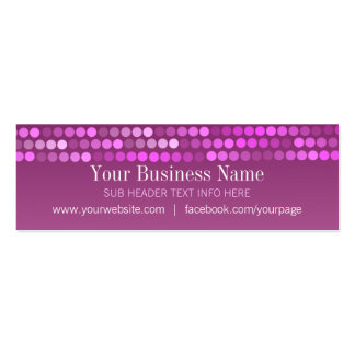Modern Pink Chic Profile Mini Business Cards