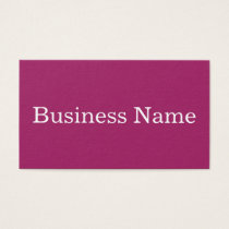 Modern Pink Customized Personalized Business Card