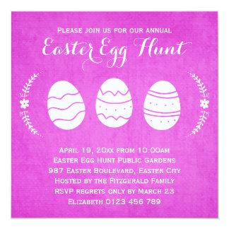 Modern Pink Easter Egg Hunt Party Card